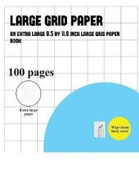 Large Grid Paper One Inch Grids James Manning Book In