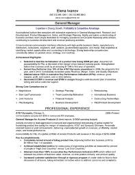 Executive Summary Resume Examples Cool Telecom Executive Resume Sample