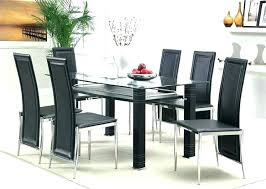 black table and chairs round glass dining furniture appealing