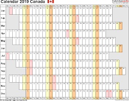 4 to a page template canada calendar 2019 free printable excel templates