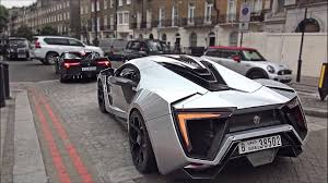 w motors lykan hypersport and fenyr supersport driving in london and hill climb