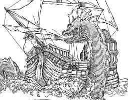 Sea Monster Free Coloring Pages On Art Coloring Pages