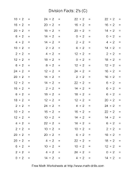 20 Division Facts Worksheets, Worksheets For Basic Division Facts ...