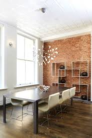 Faux Exposed Brick Apartments Alluring Exposed Brick Feature Wall Dining Room Mural