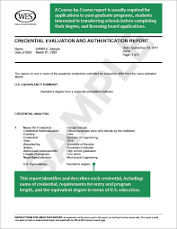 Sample Course Evaluation Form Delectable About WES Credential Evaluation World Education Services