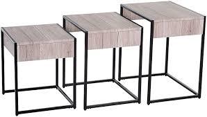 HOMCOM <b>3 PCs</b> Nesting Table <b>Coffee Table</b> Set End Table ...