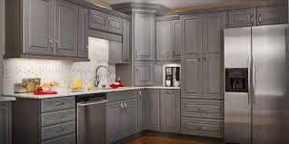 Grey Stained Oak Cabinets Ealworksorg Kitchen Cabinet Stain