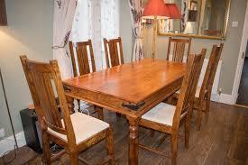 john lewis maharani dining table and six chairs