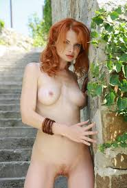 Nude over 40 red head
