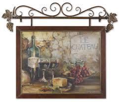 tuscan framed wall art inspirational uttermost le cau framed art