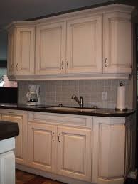 Distressed Kitchen Cabinets Straight Distressed White Kitchen Cabinets Mixed Black Stone