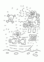 Pirate Dot To Dot Coloring Pages For Kids Connect The Dots
