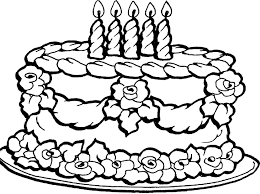 Small Picture Pictures Birthday Cake Coloring Pages 90 For Your Line Drawings