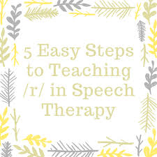 5 Easy Steps to Teaching /r/ in Speech Therapy - Speech And ...