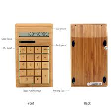 Standard Office Equipment List Eco Friendly Bamboo Electronic Calculator Counter Standard Function