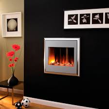 ... Electric Fireplace Contemporary Closed Hearth Wall Mounted Electric  Landscape Tv Stand Full Size