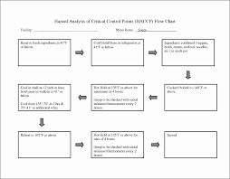 Haccp Plan Template Blank Haccp Flow Diagram Template Free Printable 16 Chart For Word
