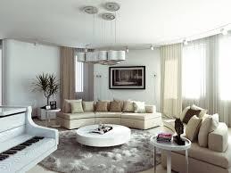 cream couch living room ideas: astonishing white interior design design living room ideas with round coffee table and modular cream