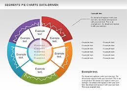 Data Driven Segments Pie Chart Presentation Template For