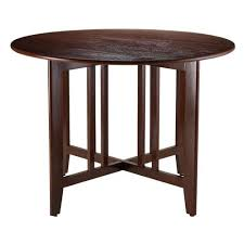 winsome wood alamo double drop leaf round 42 inch table mission