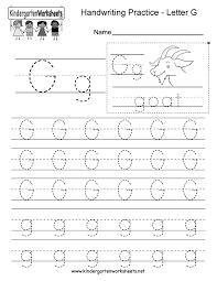 letter g writing practice worksheet printable