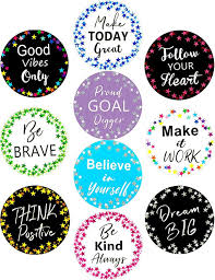 Deals Finders Amazon 20pcs Confetti Stars Positive Sayings