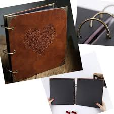 senarai harga vintage three ring binder picture photo al heart shaped leather cover sbook diy wedding