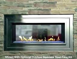 gas open fireplace gas fireplace glass doors open or closed