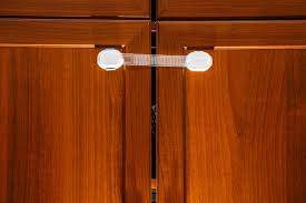 safety plastic lock on cabinet for child protection