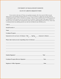 Absence Form 14 Great Leave Of Absence Invoice And Resume Template Ideas