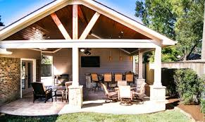 outdoor patio cover and kitchen in spring valley