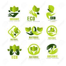 Natural Products Logo Design Eco Organic Logo Design Set Premium Quality Natural Product