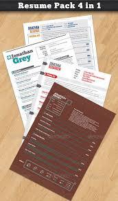 Visually Stunning Resume Templates Resume Examples