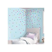 multi glitter confetti dots l and stick wall
