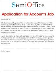 Cover Letter For Chartered Accountant Job Application Letter For The Post Of Chartered Accountant Cover