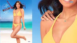 Bikini girl in brut advert