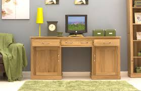 baumhaus mobel oak hidden home office size mobel oak hidden twin pedestal home office large baumhaus aston oak hidden