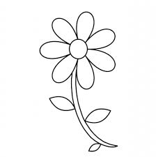 Small Picture Flower Outline Coloring Pages Coloring Coloring Pages