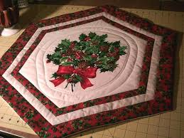 round table topper round quilted table topper pattern thread table topper and