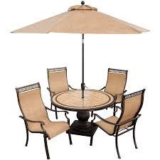 Monaco 5 Piece Dining Set with 9 Ft Table Umbrella MONACO5PC SU