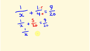 fractions how to find an unknown denominator