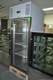 single glass door upright fridge