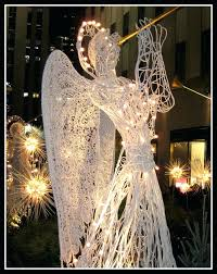lights outdoor led lighted garland wondrous angel decorations animated angels