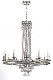 16 light olde silver crystal chandelier dd in clear hand cut crystal 5269 os cl mwp elite fixtures