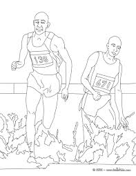 Steeplechase Athletics Coloring Page More Sports