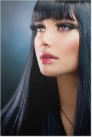 Plakát Krásná Brunetka žena Bob účes Krátké Vlasy Pixers
