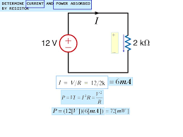8 determine cur and power absorbed by resistor