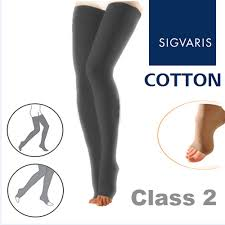 Sigvaris Cotton Size Chart Sigvaris Cotton Class 2 Black Compression Tights With Open Toe
