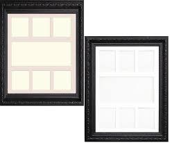 multi aperture shabby chic black photo frame with white ivory mount with size a1 for