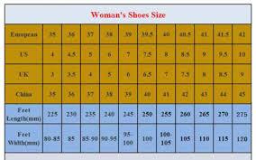Shoe Size Chart Heel Company World